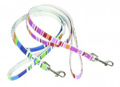 Stripey canvas dog leads