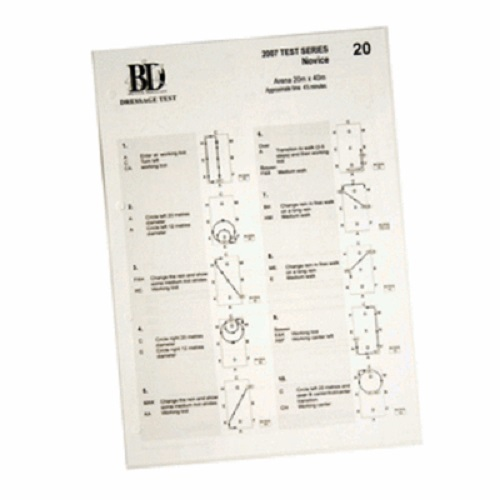 2019 BRITISH DRESSAGE NOVICE TEST SET A4 Laminated with Diagrams
