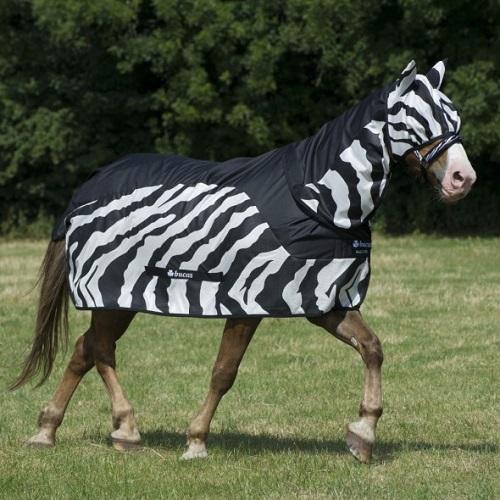 Bucas Buzz Off Zebra Rain Rug Combi Neck