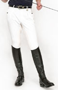 Mens White Competition Breeches from Rugged M2