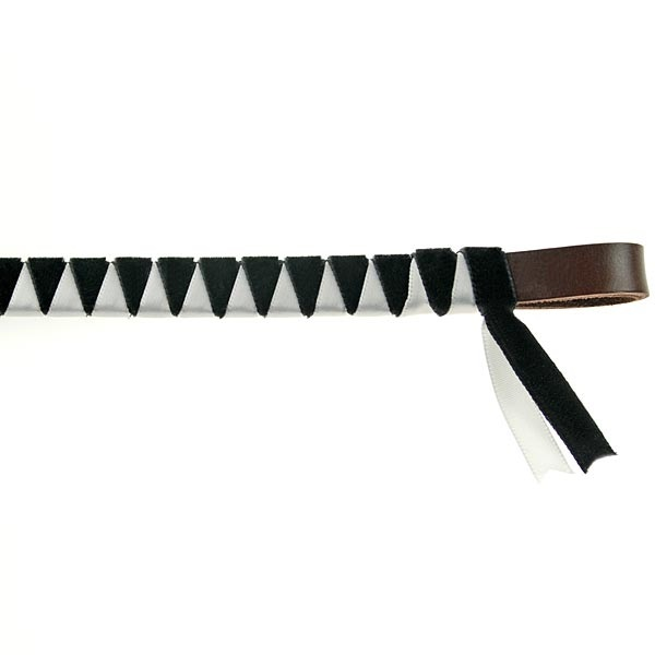 Showquest Hexham Velvet Browband - Black and White