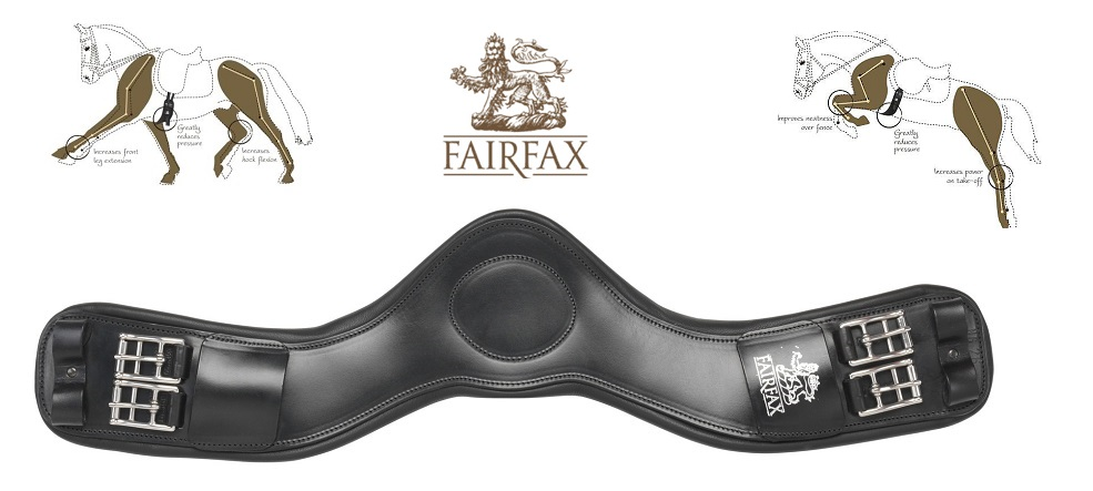 Fairfax long, stud, dressage and event girths are all available at Dragonfly Saddlery