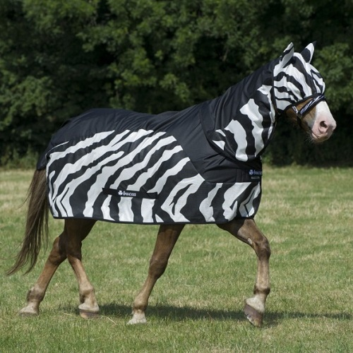 Bucas Buzz Off Zebra Rain Combi Neck Fly Rugs Rugs